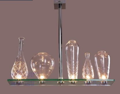 pendente com vasos luminosos